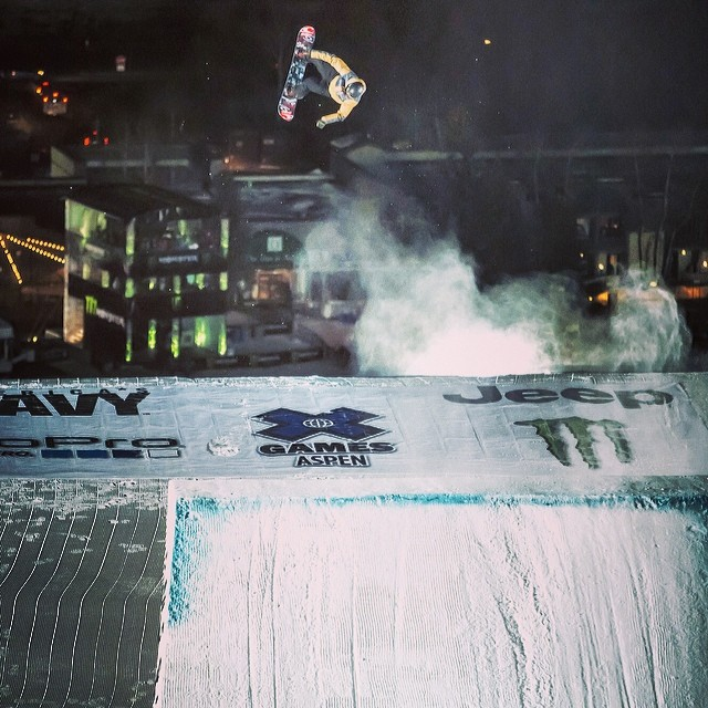 The GOLD medal view @maxparrot #xgames #goshredthisweekend