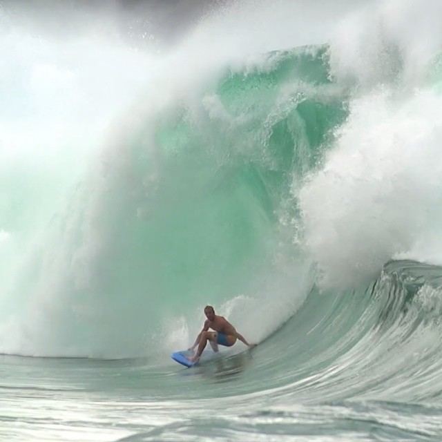 Going where no soft-top surfboard has gone before...#JAWS. Click the link in our profile for the opening episode of @whoisjob #whoisjob