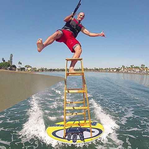 Body Glove ambassador Tony Klarich (@waterskierslife) specializes in riding on unique objects. You can see him ride this and many more objects this Saturday, 8.22.15 in Long Beach California at Marine Stadium  5255 Paoli Way, Long Beach, CA 90803 at...