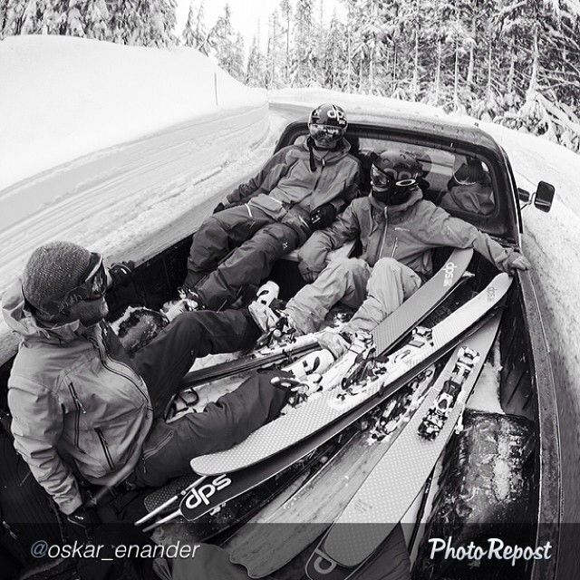 "Another #regram from the photo maestro @oskar_enander: ""Road laps all day with @oloflarsson @pierssolomon and @zackgiffin The whole @dpsskis crew are now in place in Mt Baker. #dpsskis #fstopgear #mtbaker #skiing #powtime"