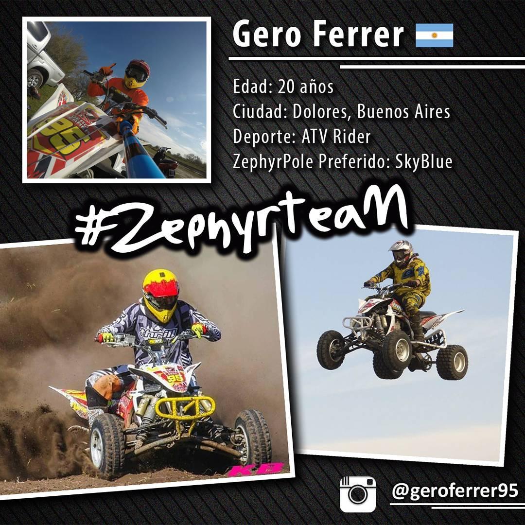 @geroferrer95 ATV Rider, oriundo de Dolores, Prov. de Bs As, ya pertenece al #ZephyrTeam !
