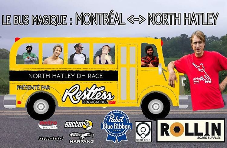 Need a ride from Montréal to #northhatleydh race?  There will be a bus leaving from Montréal!  Info on our Facebook page!  Hurry up,  places are limited!  #restlessboards