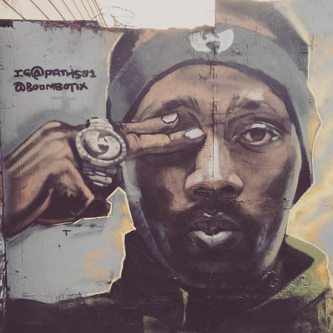 @paths01 Put up a piece for us over in the Mission on Lilac between 24th and 25th #rza #wutang #Boombotixvseverybody