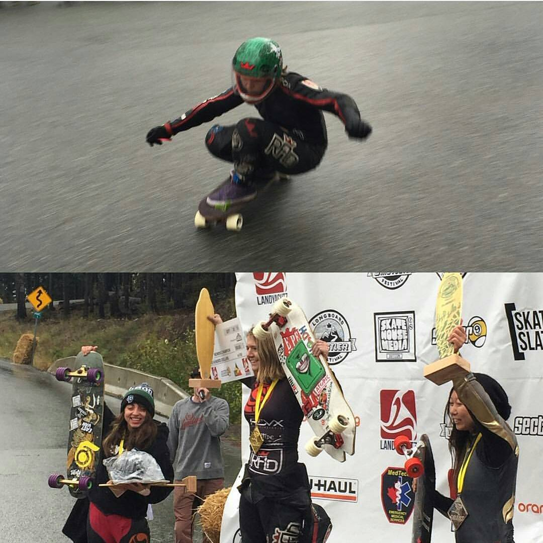 Sweet regram from @radesigns !!! We just can't get enough from @emilylongboards woooww! Congrats to our #holesom ladies that conquered the podium at the @whistlerlbfest @sk8namaste #keepitholesom