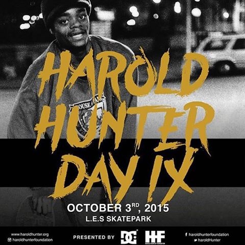 We are proud to be partnering with @haroldhunterfoundation to present Harold Hunter Day 9! Join @starheadbody, #WesKremer, @cyril_killa, @tfunkb and more at Coleman LES Skatepark in New York City on Saturday, October 3rd and celebrate the life of a New...