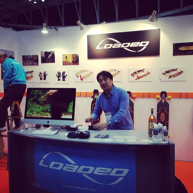 Yuki rocking the Loaded booth #interstylejapan2014 #hooddistribution Many thanks!