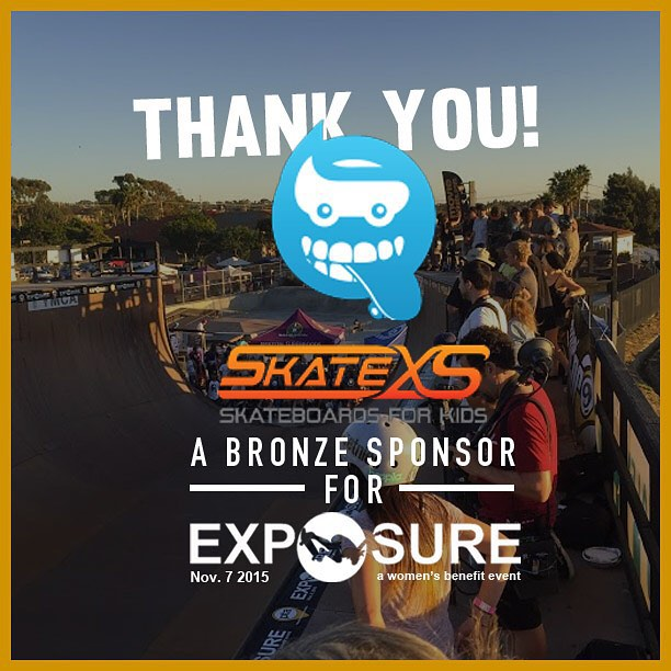 Thank you to @skatexs confirmed to be a bronze sponsor for Exposure 2015!! There are plenty of partnership opportunities still available, email partnerships@exposureskate.org to find out how you can help empower girls through skateboarding!