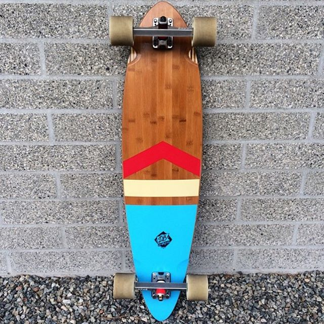 Spencer Smith's (@speedscientist) other longboard an Anthem pintail setup real nice for some campus cruising at UW. #longboard #longboarding #longboarder #dblongboards #goskate #skateboard #skateeveryday #uw #pintail #universityofwashington