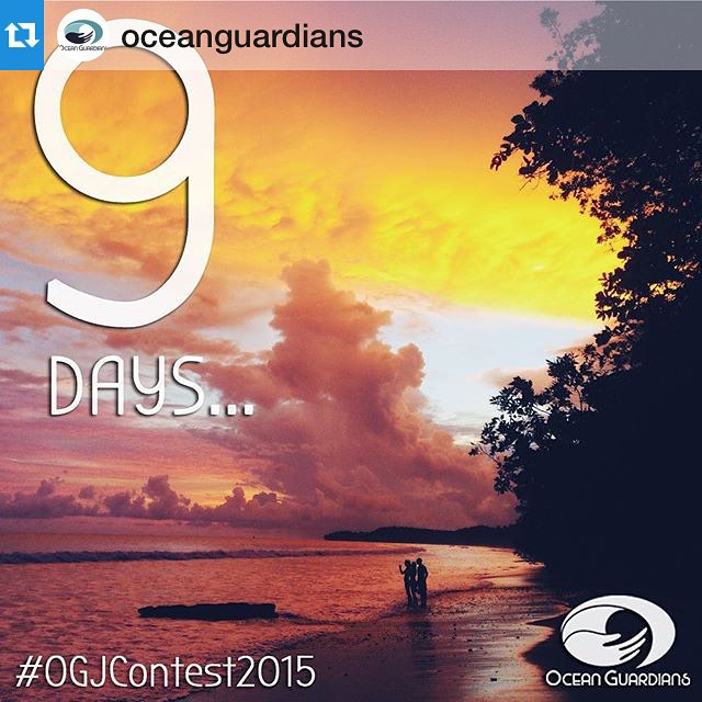 9 days to go until #OGJContest2015! Be an activist and #OceanGuardian and have a chance to win great prizes while you're at it.  Follow @oceanguardians for tips and inspirations related to #MotherOcean!