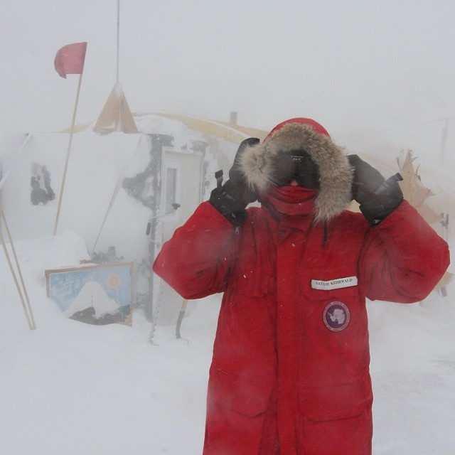 This is Natalie Kehrwald in Antarctica. She is one of the scientists we're collecting data for in #Greenland. She has been studying atmospheric deposition on snow as well as glacial recession using indicators from human existence including early...