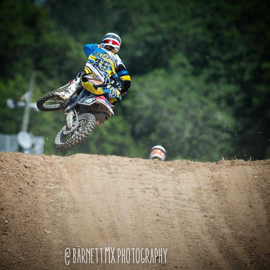 Shredding this past weekend at @gatorback_cyclepark on @whatthefett s bike! The supercross was so sick!