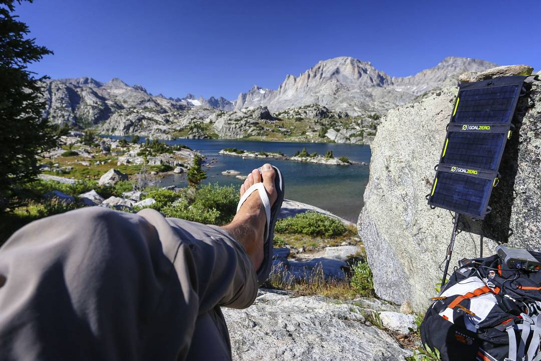 @moonmountainman taking a nice afternoon break deep in the Wind River Range. #getoutstayout