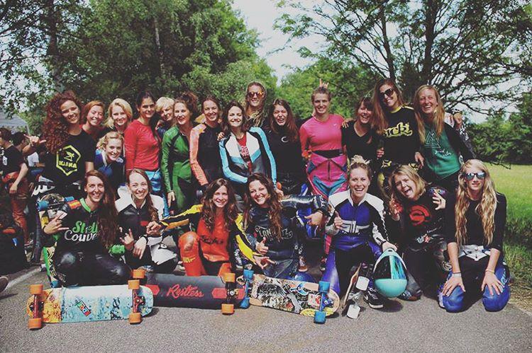 The ladies at Kozakov Challenge in Czech Republic!  #longboardgirlscrew #skatelikeagirl #womensupportingwomen #lgc #kozakov #idfracing