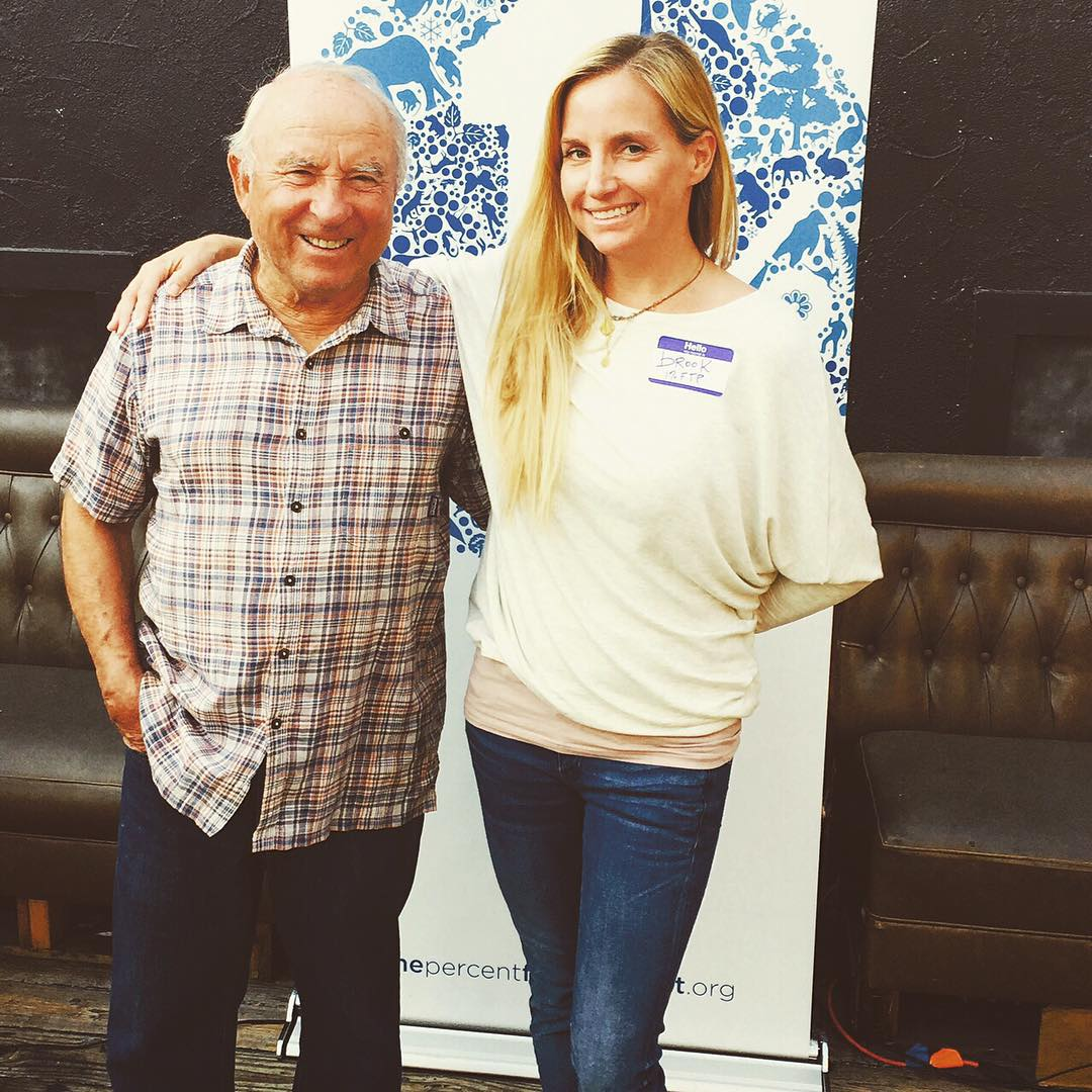 1%ftP's own @brookhopper with founder Yvon Chouinard at last nights networking event in Ventura, #California. Thanks to @therefillshoppe @surfclass @deskyogi @patagonia @sustainablelawyer @sigilscent for coming out! #giveback