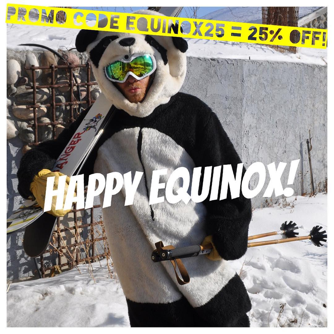 Equal parts black and white, equal length day and night, equal directions left and right... Sending wishes of balance to you all on this fine Autumnal Equinox! #TribeUP Equinox!  Promo code EQUINOX25 is good for 25% OFF all products on our website...