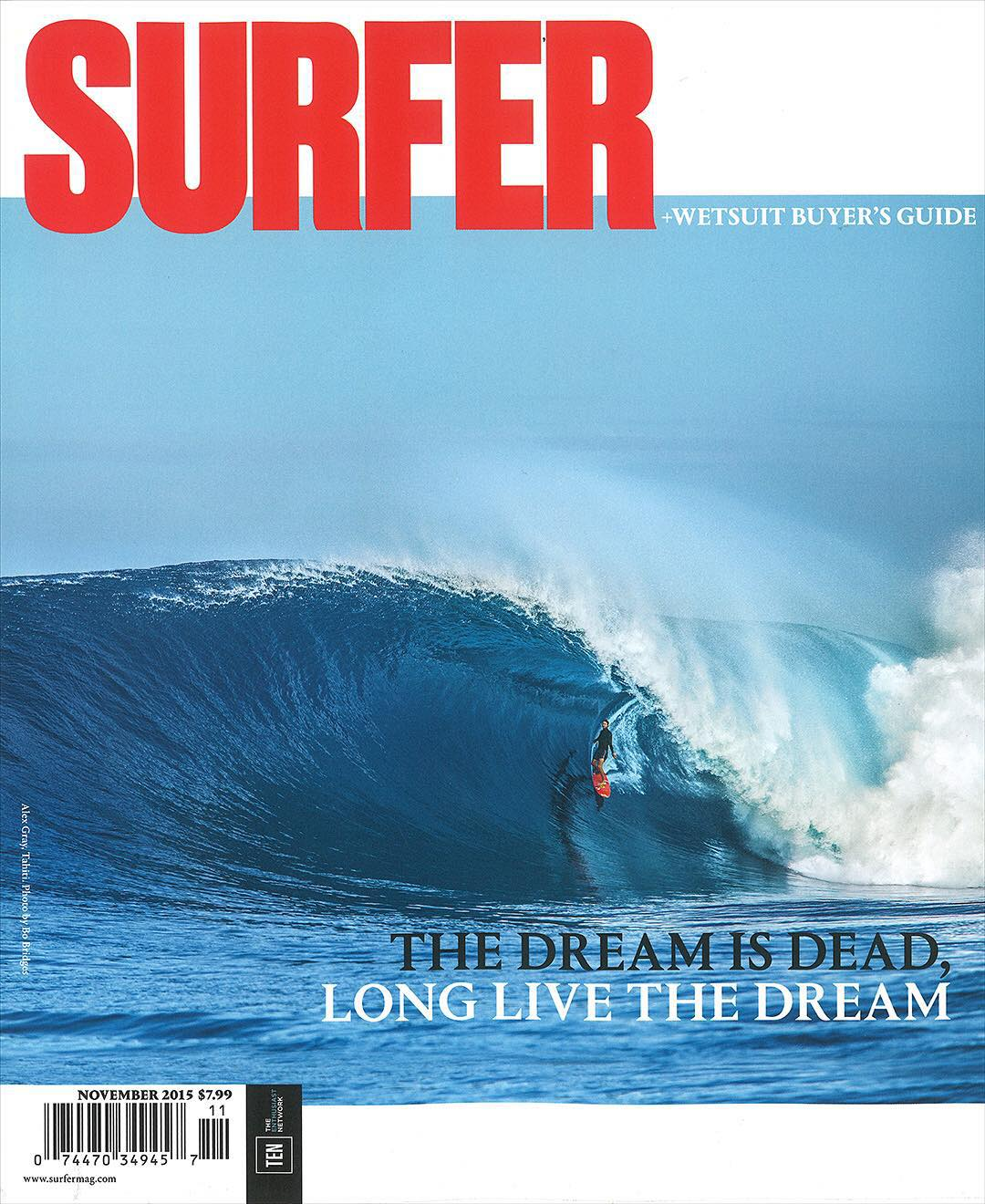 So stoked to see our boy @a_gray gracing the cover of the latest @surfer_magazine  Awesome photo @bobridges !! #allthingswater #bodyglove  www.bodyglove.com