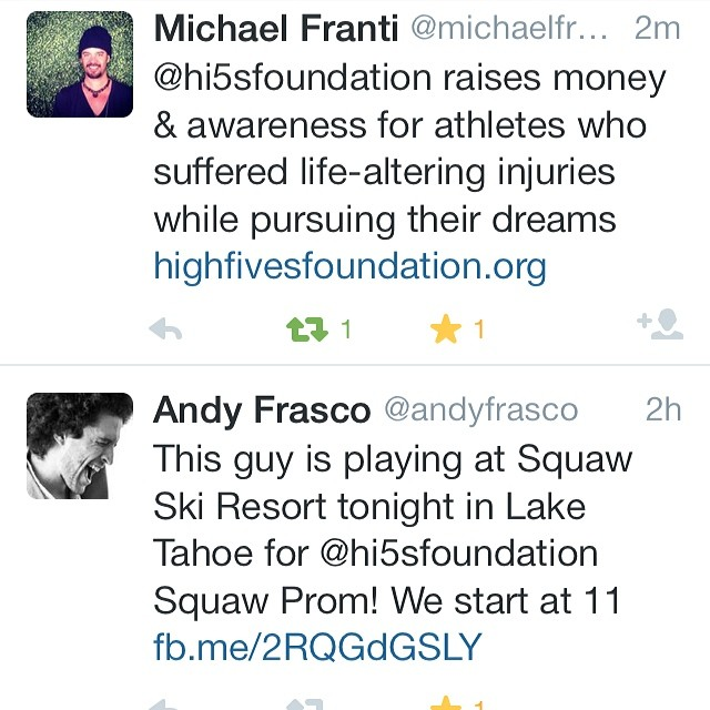 Talk about an awesome day on social media, #andyfrasco and #michaelfranti