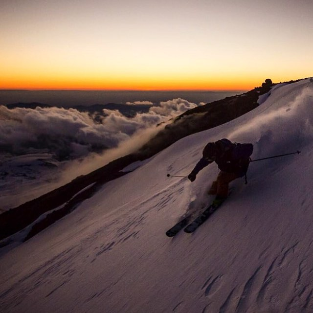 Winter is coming! Who is read to shred? @blzablaine killing it in Chile // photo @eparkerphoto_