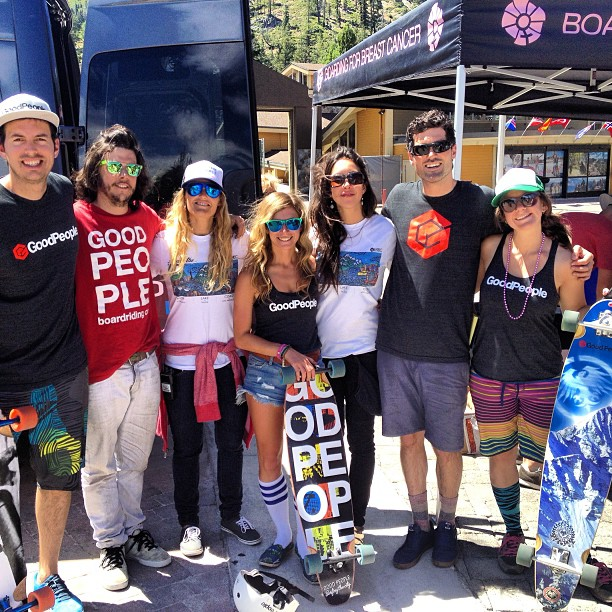 Awesome day, beautiful scenery midway point of the 28 miles up at Squaw @b4bc #skatethelake #laketahoe #gobigdogood @highmountaincreative