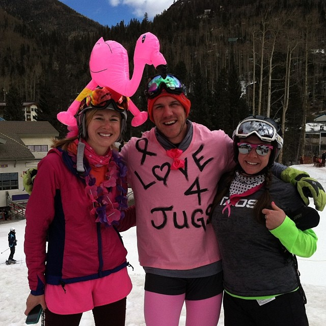 SHRED THE LOVE // Thighs are burning at the #K2 Bumps Challenge at @SkiTaos today! Participants (dressed in costume) are doing hot laps for 4 hours to raise funds for #B4BC & the Anita Salas Memorial Fund. So far nearly $15K has been raised w/ the...