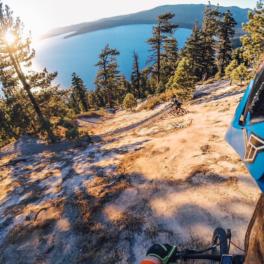 @kellymcgazza and @aaronchase take on some beautiful terrain at Bike Athlete Camp in Lake Tahoe!  Chat live with them and the rest of the #GoPro crew this afternoon at 4:30pm PST by clicking the link in our profile.  #MTB