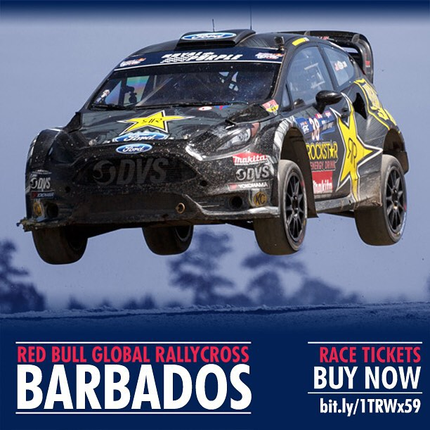 Tickets are for sale now for the GRC races in Barbados just over a week away! Who is going? #GRC #barbados #rally #racing @rockstarenergy @chipganassiracing #deegan38