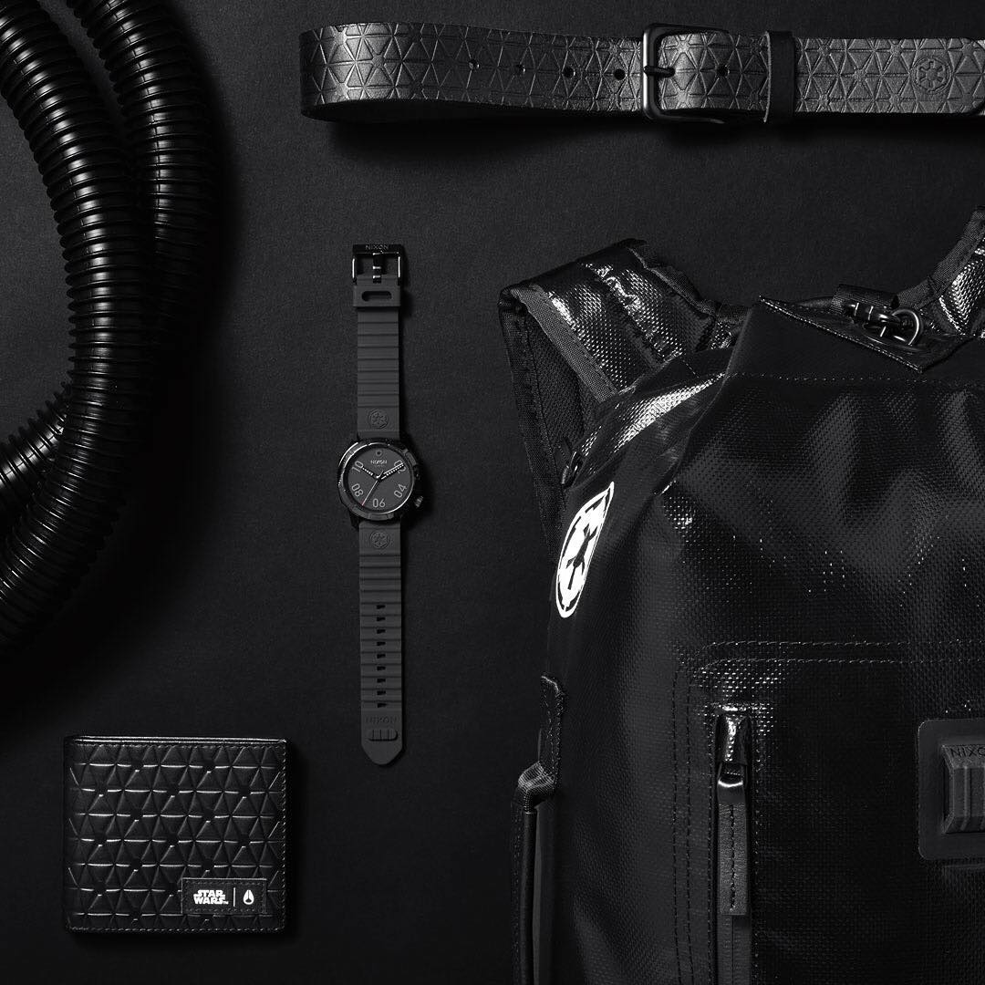 Crash and Burn: The @StarWars | #Nixon #ImperialPilot collection shows solidarity to the #Empire with the #Imperial logo details found on the Origami Backpack, DNA Belt and Arc Wallet. ...