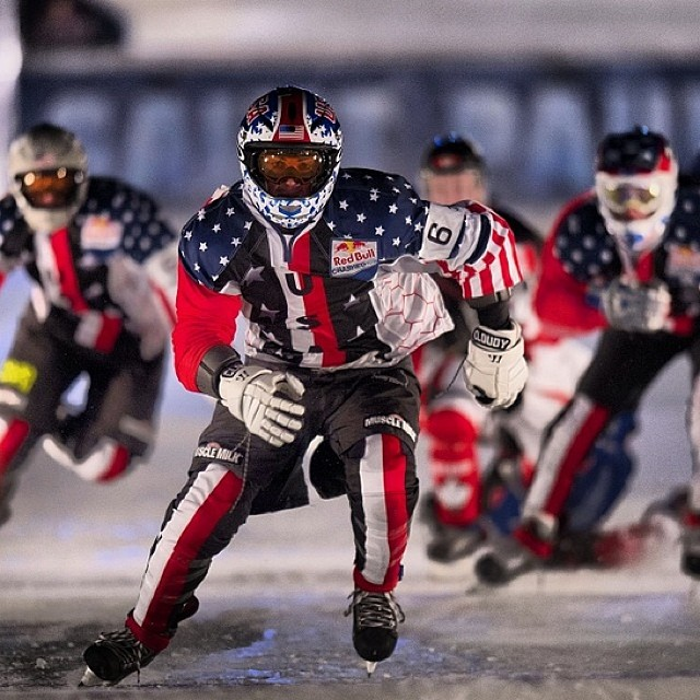 Will the Stars and Stripes bring home the hardware? Follow @RedbullMSP for the latest from Red Bull #CrashedIce. To watch it LIVE, go to redbull.tv . If you're in the US, check out all the action on @FoxSports1 on Monday, 9:30 ET