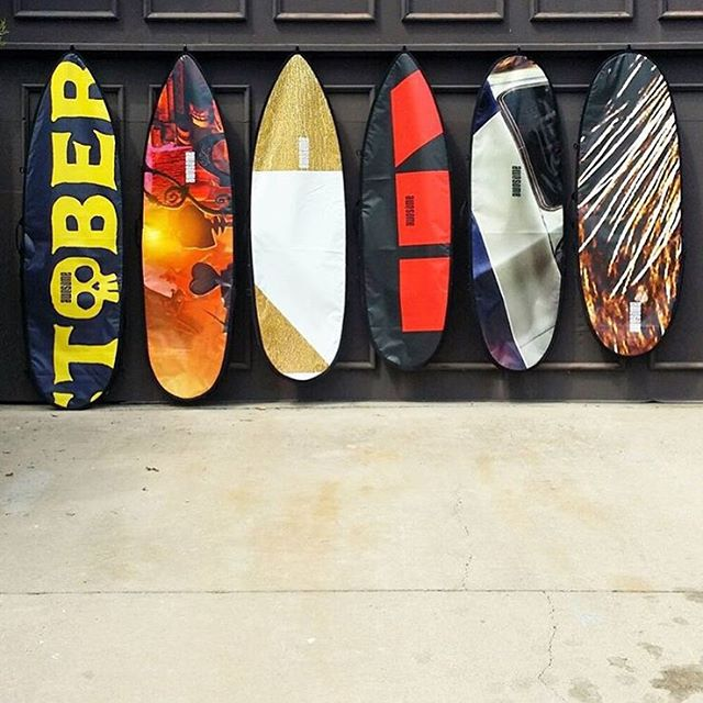 PROGRESS X AWESOME board bags, available now on our new website www.awesomesurfboards.com  each bag is unique and made of reclaimed billboards by @p_r_o_g_r_e_s_s  very limited quantities #awesome #awesomesurfboards #progress#surf#surfing...