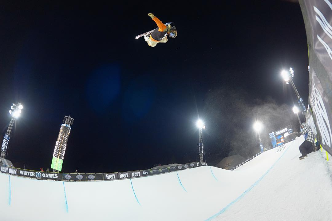 #TBT – @travelindan earned his second straight Snowboard SuperPipe gold medal in Jan.  #XGames Aspen is goin' down again, January 28-31, 2016! (