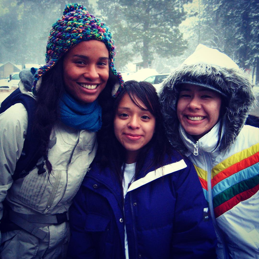 Snow mentor 2009 with guest mentor Joy Bryant! @stoked_la