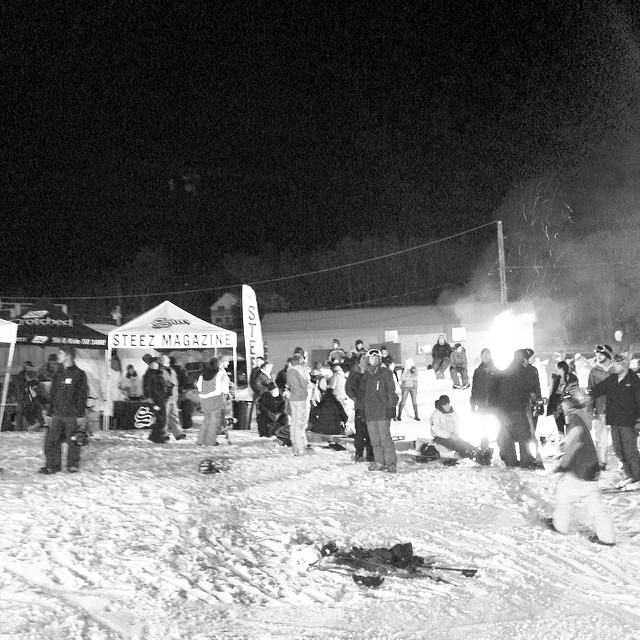@crotched_mountain block party 2.0 #steezmagazine #blockparty #crotchedmountain #snowboarding #bonfire