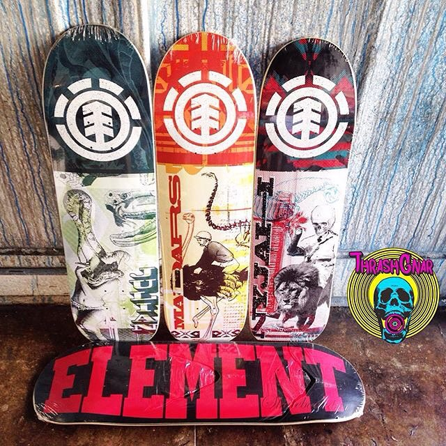 #repost from the homies over at @thrashgnar skate shop in Downtown LA >>> They just restocked some fresh Element boards, including the 'Overprint' series we just released, if your in the hood, head to their shop and pick one up! #Supportyourlocalskateshop