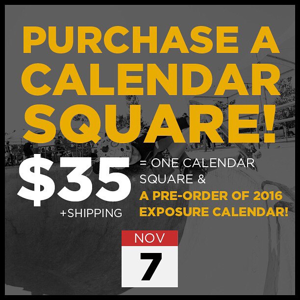 Ad space now available for EXPOSURE 2016 CALENDAR!! Purchase a calendar square for $35 to announce birthdays, events, or other special occasions! You will also receive a pre-order of the 2016 EXPOSURE calendar! If interested contact...