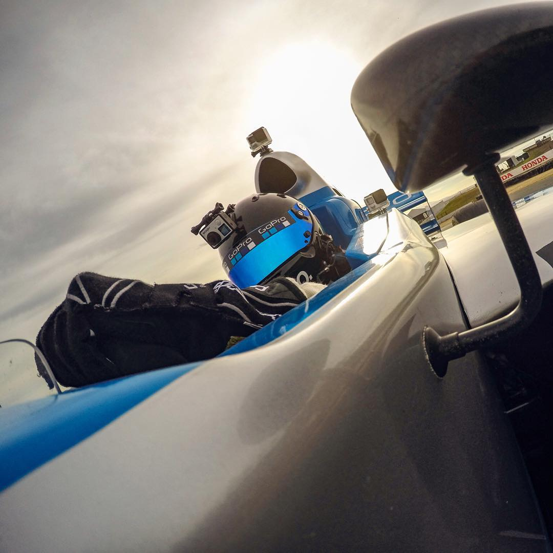 #TBT to #GoPro CEO & Founder Nick Woodman tearing up the track at @racesomona during the #GoProGrandPrix!
