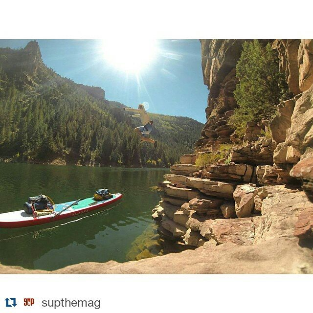 #Repost from@supthemag ・・・ Have you plotted your next adventure? Take the leap. #flaminggorge #regram @suppaul_pics