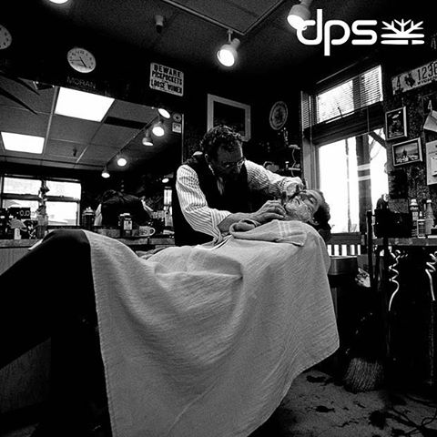 Classic #PowderRoad. Barber Shop - Jackson, WY. 2005. Photo: @oskar_enander. #dpsroots