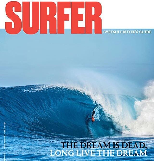 The happiest camper we know just landed himself on the cover of @surfer_magazine! Show @a_gray how stoked you are by congratulating him in the comments below!
