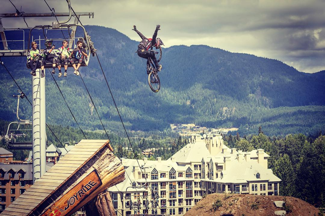Same height; different means of getting there. #letgo #nohands #takeachance  #redbulljoyride