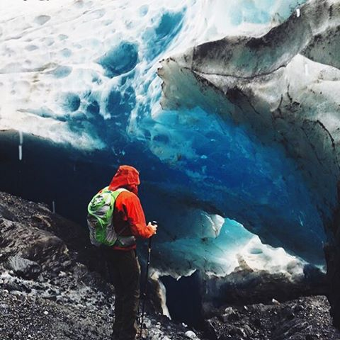 Lost is a lovely place to find yourself. Photo by @moaihotep/Mendenhall Glacier Ice Caves #MHMgear #PacksElevated