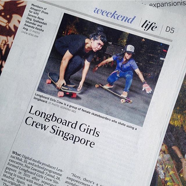 Look at this!  Longboard Girls Crew Singapore @lgcsingapore featured in local Life Magazine! YEAH LADIES!  #longboardgirlscrew #womensupportingwomen #lgcsingapore #skatelikeagirl #singapore #lifemagazine