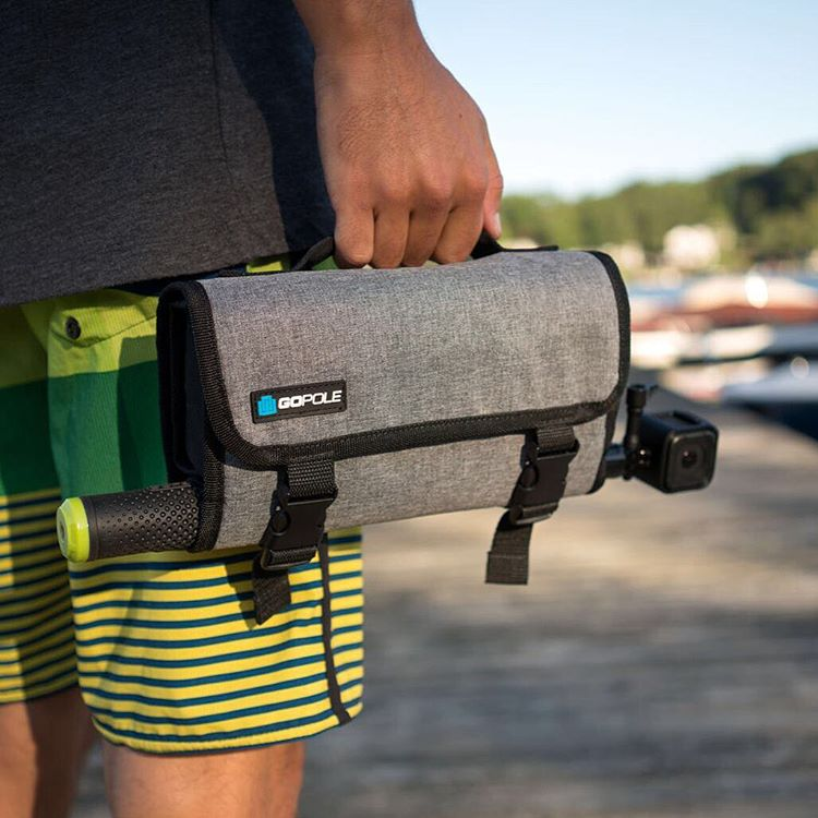 The slide through sleeve fits most extension poles including GoPole Evo and Reach. GoPro HERO4 Session | GoPole Trekcase #gopro #HERO4Session #gopole #trekcase