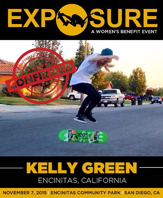 Kelly Green (@sk8rgreengirl) confirmed for EXPOSURE 2015!