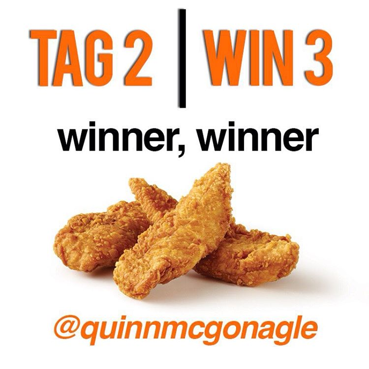 Winner, winner chicken dinner!! @quinnmcgonagle you and your homies are our lucky TAG 2 | WIN 3 winners. Check your DMs for details.  Thanks to everyone who participated - Happy Friday, we've gotta go get some @raisingcanes now...