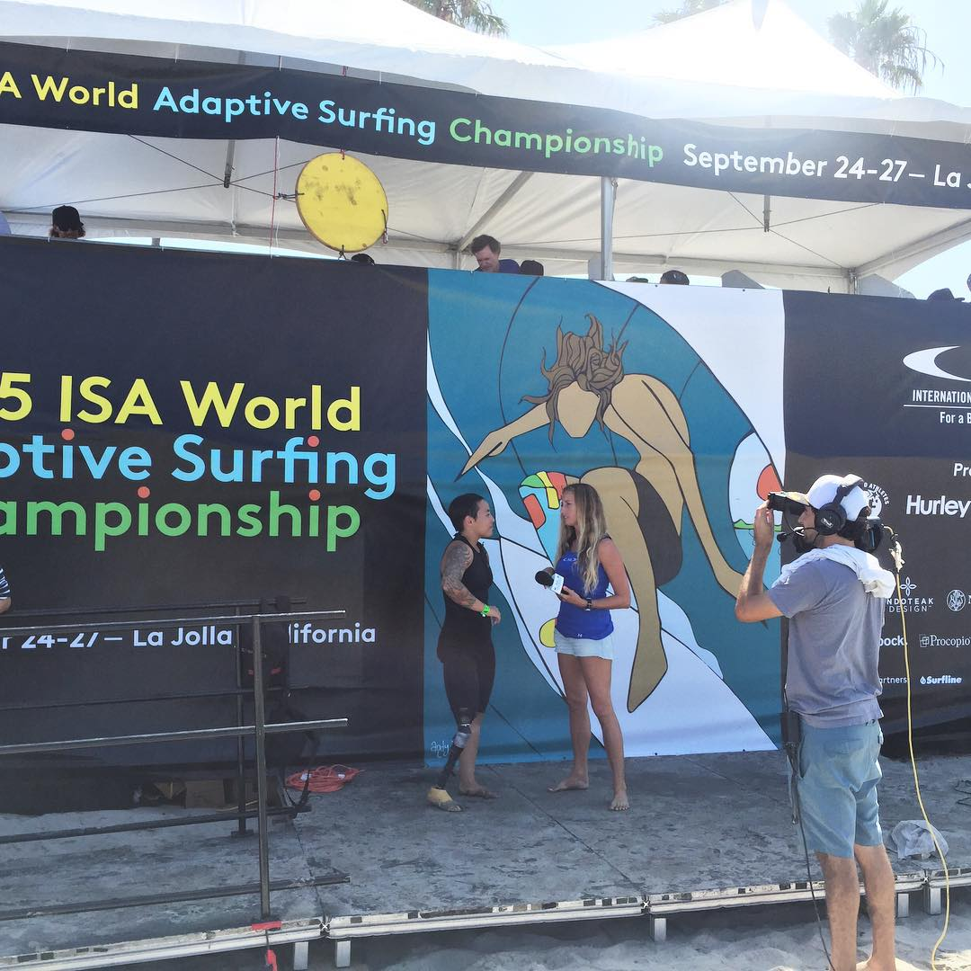 The interview // @dayni @isasurfing #isaworlds #adaptivesurfing #inspiredsurfers #gogirl #shecansurf #surfergirl