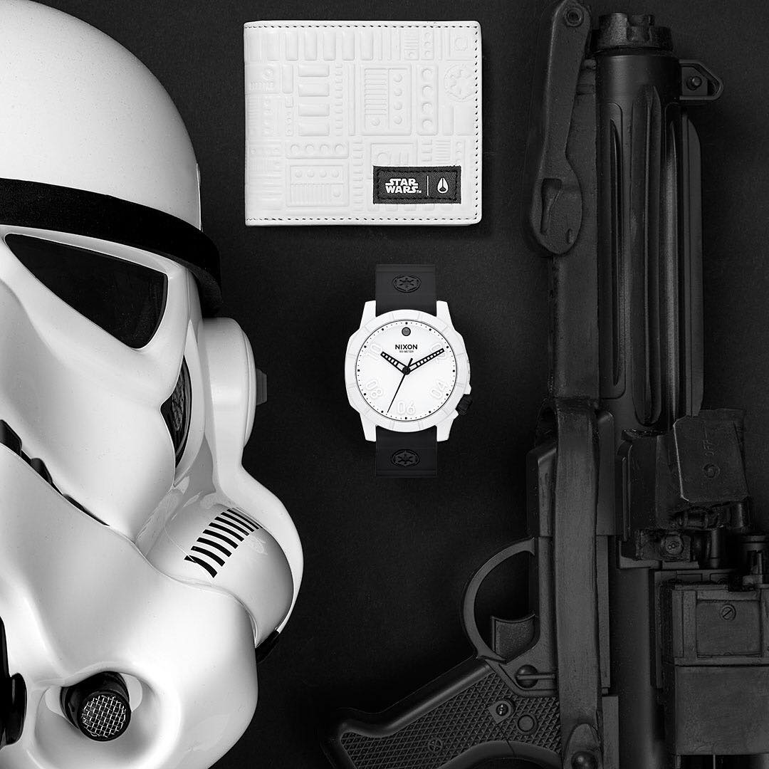 Design details on the bezel and pushers, dials and bands, the color applications and storytelling references that bring to life the unique characteristics only found in the @StarWars | #Nixon Collection. #Ranger40 #NixonNow #TheForceAwakens #StarWars...