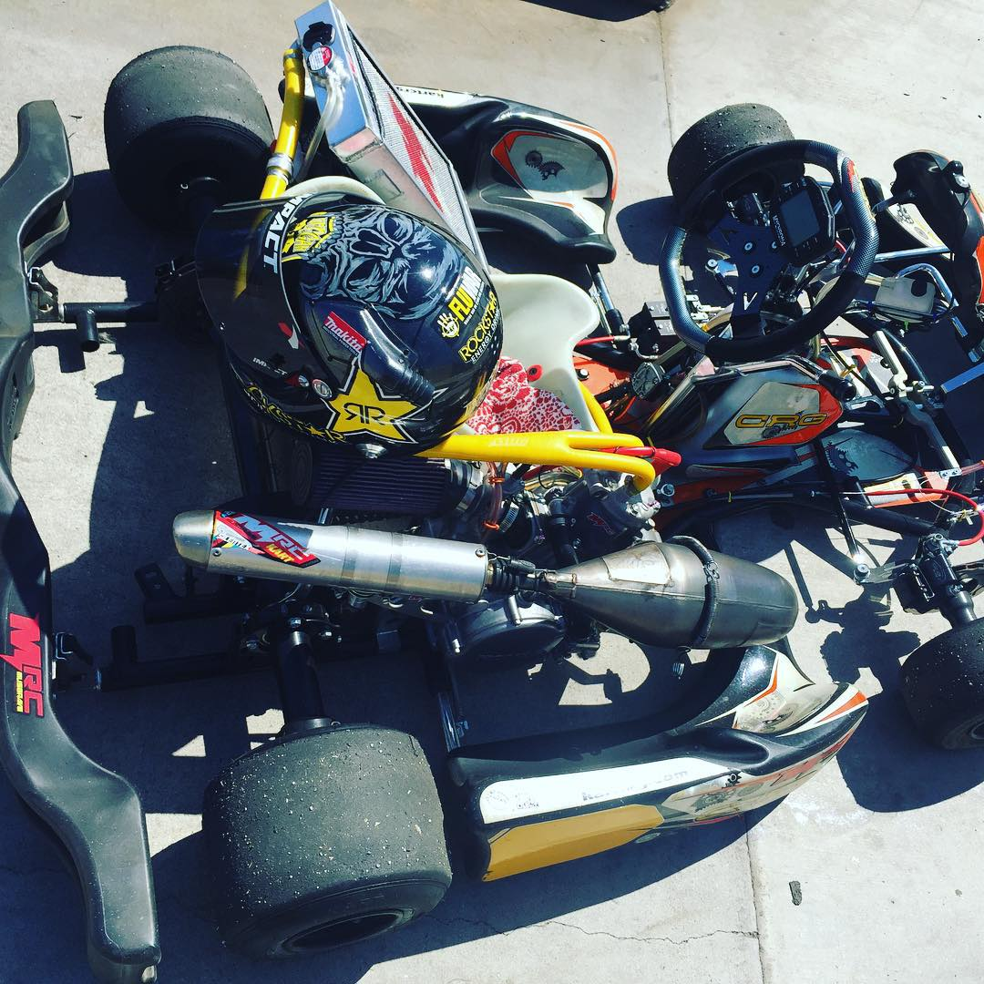 Now we're workn.  Thx @musgraveracing for the #kart . #karting #deegan38 #troyadamskarting  #fun with my daughter @hailiedeegan538 battling.