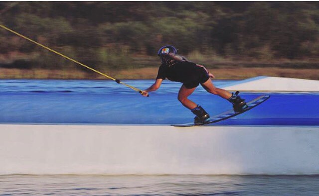 A different kind of Toes on the Noes // #luvsurf team rider @ashannig #nosegoes #wake #team #cableparksessions @byerlyboards #QuestATX
