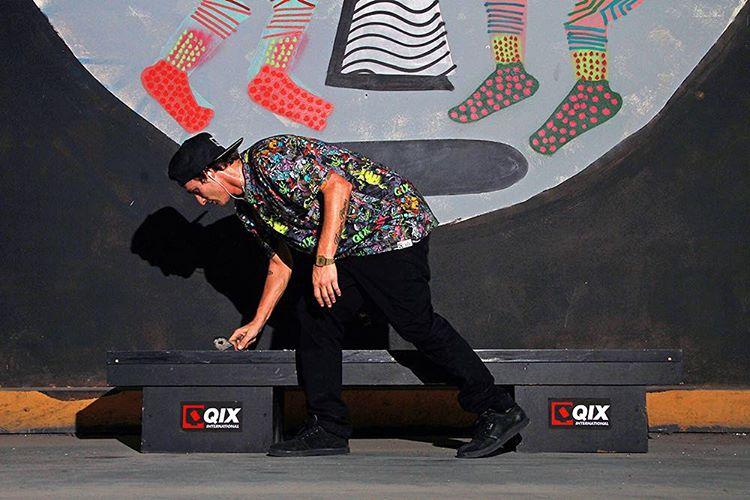 @thiagopingo preparando a caixa de diversões QIX. #QIXBASE #camisetafullprint #skateboardminhavida #qixskate #qixskate