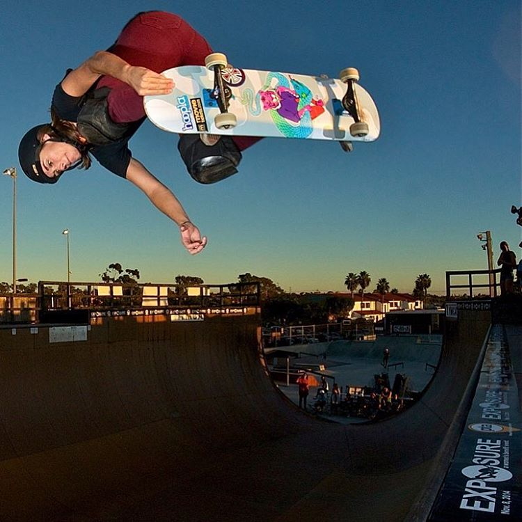 Happy Birthday to this legend! Thank you for all that you do for women's skateboarding @mimiknoop ! Photo by @sparagram #ladiesofshred